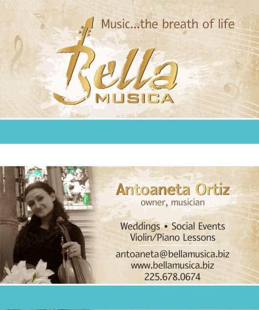 business card Bella Musica